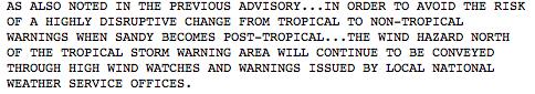 11 p.m. NHC Advisory