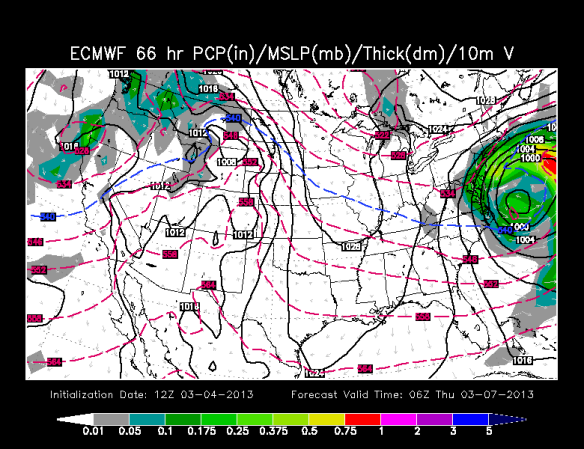 Glancing blow on today's European model - though it has taken a big jump north