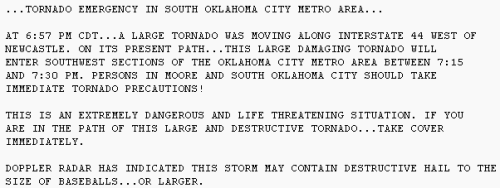 May 3, 1999 tornado emergency