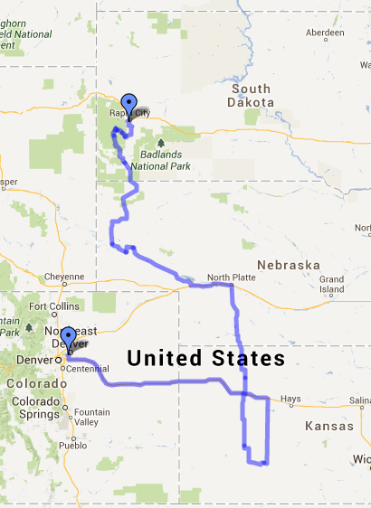Journey so far... about 1100 miles!