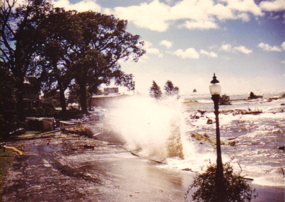 Flooding during the eye of Carol (Courtesy: Town of Groton)
