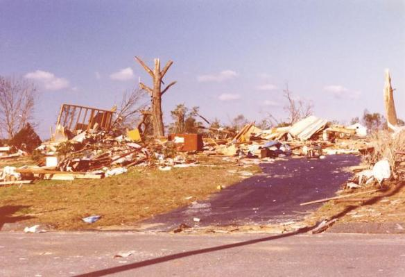 Damage in Windsor, CT following 1979 tornado.