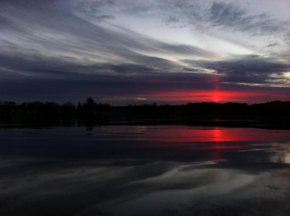 Sun Pillar on Lake Pocotopaug / Courtesy: Dalton in East Hampton